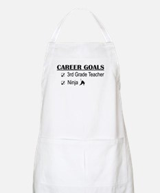 3rd Grade Teacher Career Goals BBQ Apron