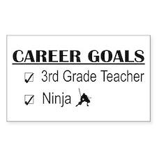 3rd Grade Teacher Career Goals Sticker (Rectangula