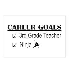 3rd Grade Teacher Career Goals Postcards (Package
