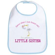 i'm getting a little sister stork Bib
