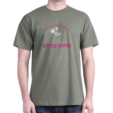 ADULT SIZE little sister stork Dark T-Shirt