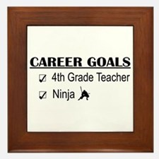 4th Grade Tchr Career Goals Framed Tile