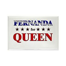FERNANDA for queen Rectangle Magnet