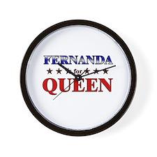 FERNANDA for queen Wall Clock