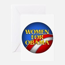 Women For Obama Greeting Card