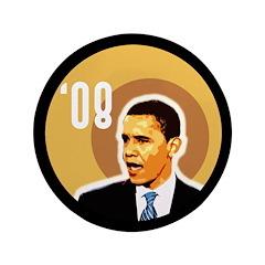Big Barack Obama '08 Bullseye Button