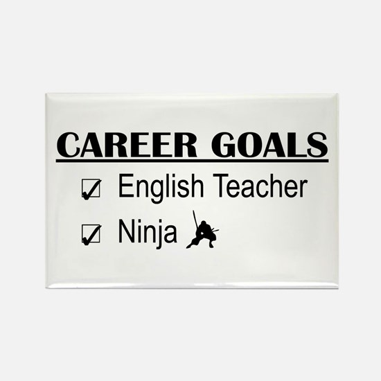 English Teacher Career Goals Rectangle Magnet