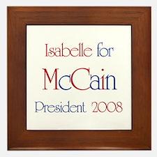 Isabelle for McCain 2008 Framed Tile