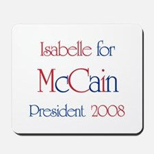 Isabelle for McCain 2008 Mousepad