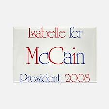 Isabelle for McCain 2008 Rectangle Magnet