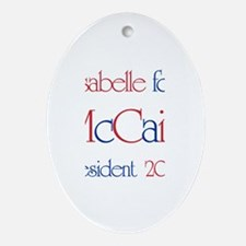 Isabelle for McCain 2008 Oval Ornament