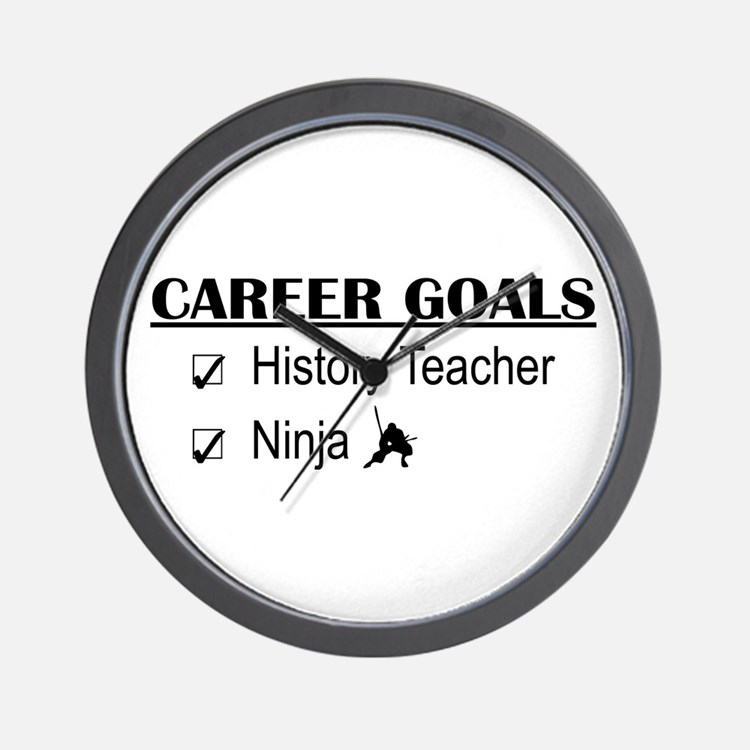 History Tchr Career Goals Wall Clock