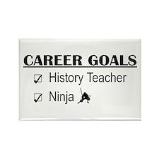 History Tchr Career Goals Rectangle Magnet