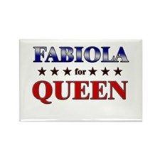 FABIOLA for queen Rectangle Magnet