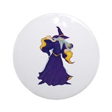 Merlin the Wizard Picture Ornament (Round)