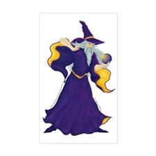 Merlin the Wizard Picture Rectangle Decal