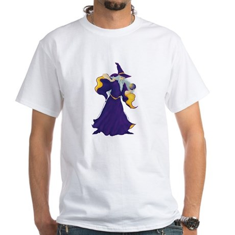 Merlin the Wizard Picture White T-Shirt