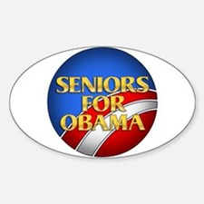 Seniors For Obama Oval Decal