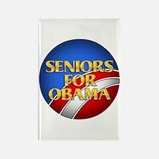 Seniors For Obama Rectangle Magnet