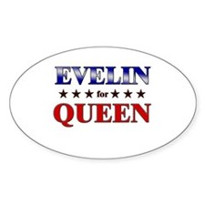 EVELIN for queen Oval Decal