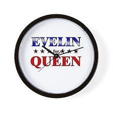 EVELIN for queen Wall Clock