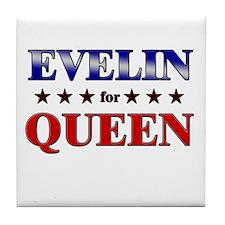 EVELIN for queen Tile Coaster