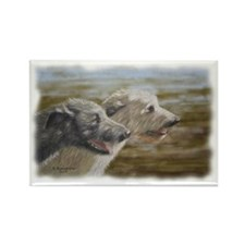 Irish Wolfhounds Rectangle Magnet