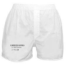 Math Teacher Career Goals Boxer Shorts