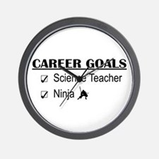 Science Tchr Career Goals Wall Clock