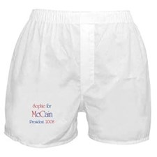 Sophie for McCain 2008 Boxer Shorts