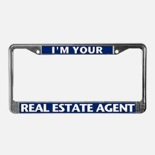 I'M YOUR AGENT (Teal Blue) License Plate Frame
