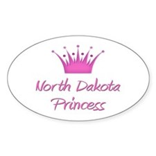 North Dakota Princess Oval Decal