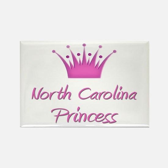 North Carolina Princess Rectangle Magnet
