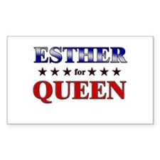 ESTHER for queen Rectangle Decal
