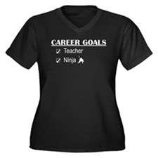 Teacher Career Goals Women's Plus Size V-Neck Dark