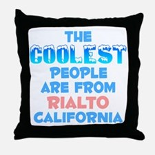 Coolest: Rialto, CA Throw Pillow