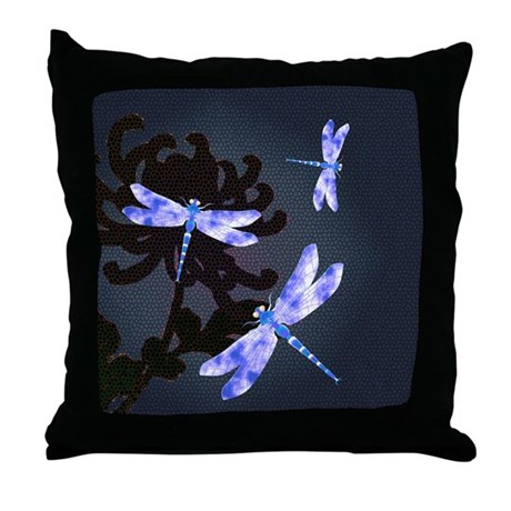 Throw Pillow With Dragonfly : Dragonflies Throw Pillow by okawausa