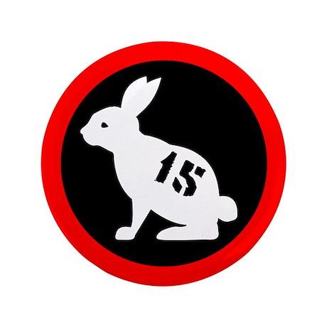 """Bunny 15 3.5"""" Button"""