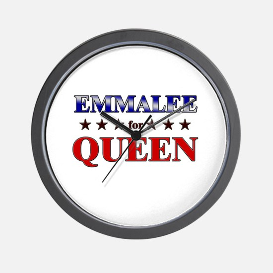 EMMALEE for queen Wall Clock
