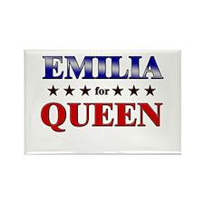 EMILIA for queen Rectangle Magnet