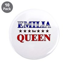 """EMILIA for queen 3.5"""" Button (10 pack)"""