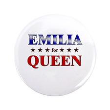 "EMILIA for queen 3.5"" Button"