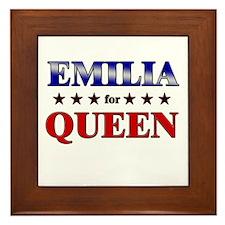 EMILIA for queen Framed Tile