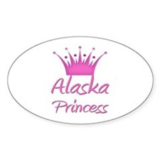 Alaska Princess Oval Decal