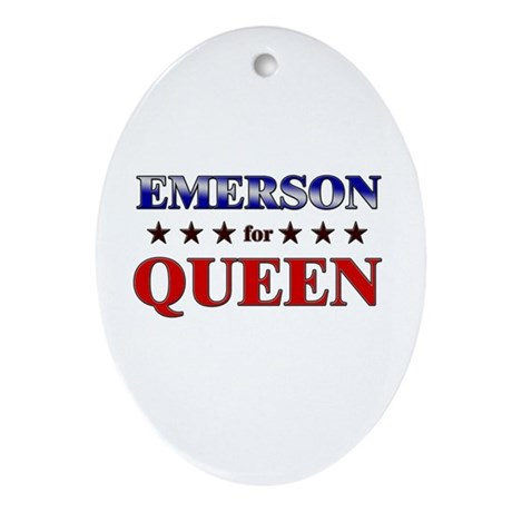 EMERSON for queen Oval Ornament
