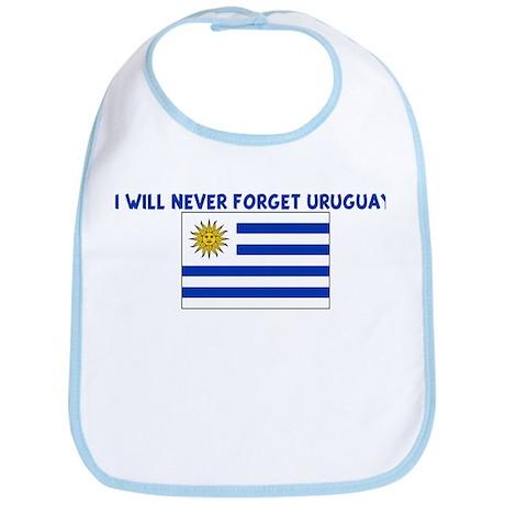 I WILL NEVER FORGET URUGUAY Bib