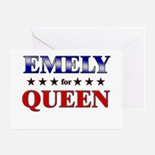 EMELY for queen Greeting Card