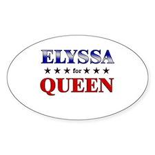 ELYSSA for queen Oval Decal