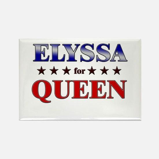 ELYSSA for queen Rectangle Magnet