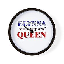 ELYSSA for queen Wall Clock